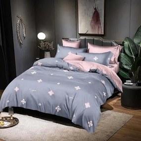 Ágyneműhuzat Kék Rózsaszín Virágok