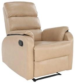 Relaxáló fotel, bézs, VANDEN
