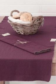 Home Design asztalközép díszszegélyekkel, lila 160x50 cm
