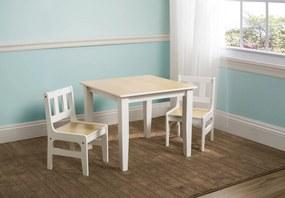Gyerek asztal székekkel - natúr természetes TT89512GN Natural
