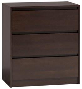 Milanga K3 fiókos szekrény, wenge