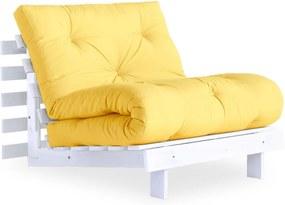 Roots White/Yellow variálható fotel - Karup Design