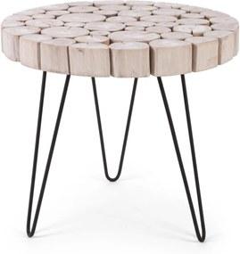 GONZALO fehér lerakóasztal 56cm átmérő