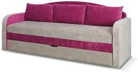 SPARTAN ágyazható kanapé, 86x208x75, Santana tölgy / lila (ibiza03 / ibiza21) - KIÁRUSÍTÁS 66.SZ.