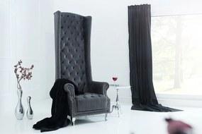Királyi fotel King Luxury Vintage szürke