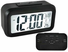 LED ébresztőóra fényérzékelővel (fekete)