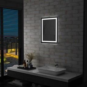 vidaXL LED-es fürdőszobai tükör érintésérzékelővel 50 x 60 cm
