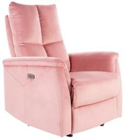 MERKUR Velvet fotel, 76x96x94-160, bluvel 52