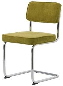 Stílusos szánkótalpas szék Denise zöld