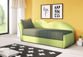 AGA kinyitható kanapé, 200x80x75 cm, sötétzöld/világoszöld, balos