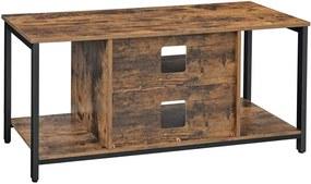 TV szekrény nyitott tárolóval, TV-konzol szekrény polccal 110 x 40 x 50 cm
