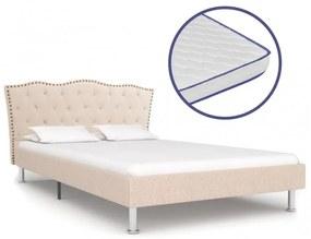 Bézs szövetágy memóriahabos matraccal 120 x 200 cm
