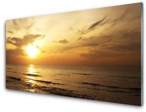Üvegfotó tenger, táj 140x70 cm