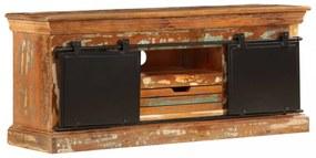 Tömör újrahasznosított fa tv-szekrény 110 x 30 x 45 cm