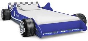 vidaXL kék versenyautó formájú gyerekágy 90 x 200 cm