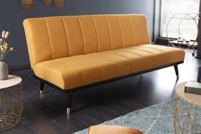 PETIT BEAUTE sárga 100% poliester kanapéágy