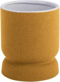 Cast sárga kerámia váza, magasság 17 cm - PT LIVING