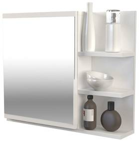 Drohmo Lumo P polcos fürdőszobai tükör, fehér