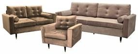 Hella ülőgarnitúra, nappali bútor gr021 (világos nude)