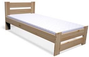 STUDY tömörfa ágy + MORAVIA habmatrac 16 cm + ágyrács AJÁNDÉK 90x200 cm, natúr