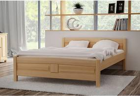 JOANA magasított ágy + matrac + ágyrács AJÁNDÉK, 120x200 cm, natúr-lakk
