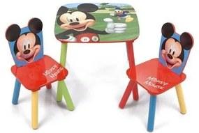 Mickey-Minnie egér asztal és 2db szék