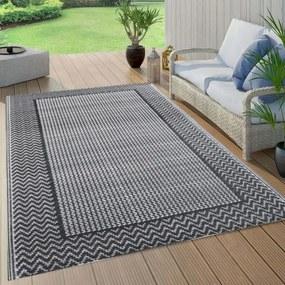 Szürke PP kültéri szőnyeg 80 x 150 cm
