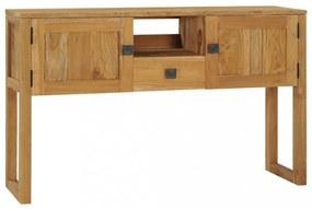 Tömör tíkfa tálalóasztal 120 x 32 x 75 cm