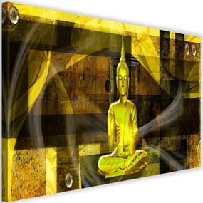 Modern kép 120x80cm – Buddha Figure On Geometric Background 4
