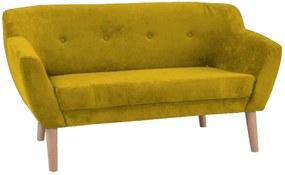 kárpitozott kanapé BJORG 2, 76x139x54, sárga