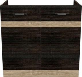 Salandra Elemes konyha 2 ajtós mosogató alatti szekrény DARK SONOMA 80 x 80 x 50 cm