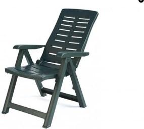 Kerti műanyag szék YUMA Zöld