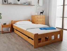Naomi magasított ágy 90x200 cm, égerfa Ágyrács: Deszkás ágyráccsal, Matrac: Coco Maxi 23 cm matraccal