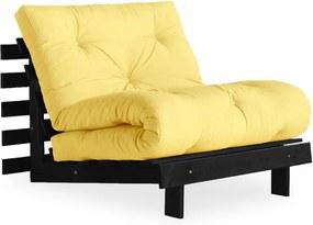Roots Black/Yellow sárga kinyitható fotel - Karup Design
