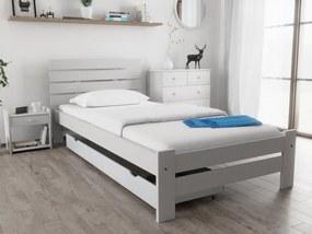Magnat PARIS magasított ágy 90x200 cm, fehér Ágyrács: Ágyrács nélkül, Matrac: Deluxe 15 cm matraccal
