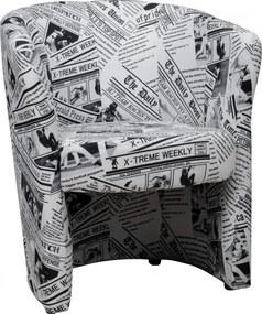 Fotel, újságmintás, CUBA