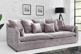 HEAVEN modern 3 személyes kanapé - szürke bársony - 210cm