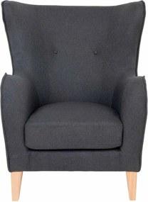 Campo sötétszürke füles fotel - House Nordic