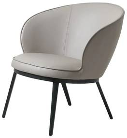 Stílusos fotel Danika taupe - műbőr