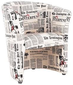 Klub fotel, szövet újságminta, CUBA