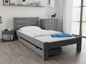 Maxi Drew Amelia ágy 90x200 cm, szürke Ágyrács: Ágyrács nélkül, Matrac: Somnia 17 cm matraccal