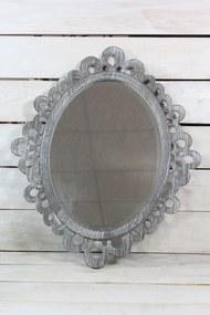 Tükör - szürke (42,5x50 cm) - vidékies stílusú