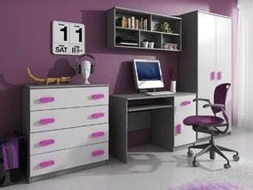 ID Svend szekrénysor - szürke, rózsaszín