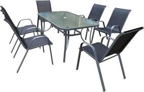 Harbour/Kingston asztal edzett üveg asztallappal - Timpana