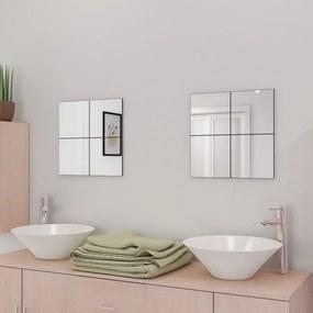 16 db keret nélküli üveg tükörcsempe 20,5 cm