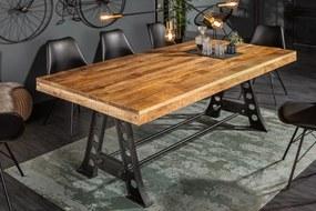 Ipari stílusú étkezőasztal Stream natúr mangó