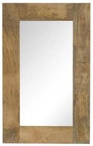 vidaXL tömör mangófa keretű tükör 50 x 80 cm