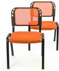 Rakásolható kongresz szék készlet 2db - narancssárga