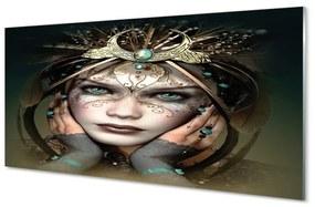 Üvegképek Nő kék szeme 100x50 cm