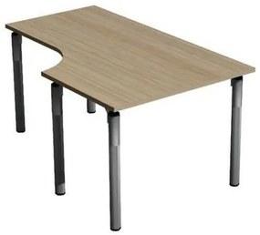 Ergo Set line irodai asztal, 160 x 100 x 75 cm, jobbos kivitel, világos fa